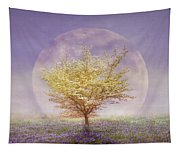 Dogwood In The Lavender Mist Tapestry