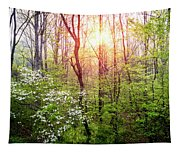 Dogwoods In The Forest Tapestry