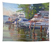 Docks At The Shores  Tapestry