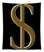 Dollar Sign 1 Tapestry