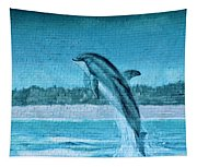 Dolphin Mural Tapestry