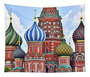 Domes Of St. Basil Tapestry