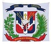 Dominican Republic Coat Of Arms Tapestry