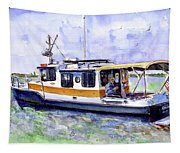 Don And Kathys Boat Tapestry