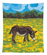 Donkey And Buttercup Field Tapestry