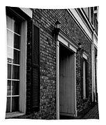 Doorway Black And White Tapestry