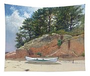 Dory On Dana's Beach Tapestry