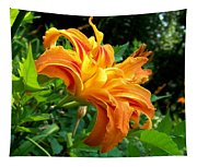 Double Blossom Orange Lily Tapestry