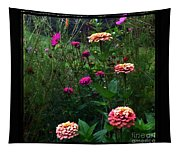 Double Framed Floral Tapestry