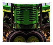 Double Green Machines Tapestry