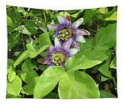 Double Passion Flowers Tapestry