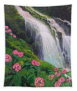 Double Hawaii Waterfall Tapestry