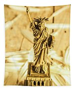 Dove Feathers And American Landmarks Tapestry