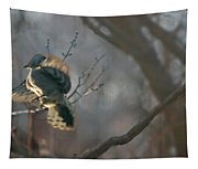 Downey Woodpecker Tapestry