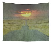 Downhill Sunset Tapestry