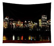 Downtown Calgary At Night Tapestry