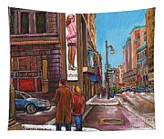 Downtown Montreal Streetscene At La Senza Tapestry