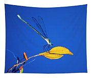 Dragonfly And Leaf Tapestry