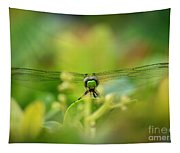 Dragonfly Dream In Green Tapestry