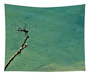 Dragonfly Exercising Wings Tapestry