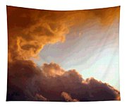 Dramatic Cloud Painting Tapestry