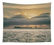 Dramatic Sky Over Hurst Castle Tapestry