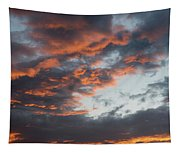 Dramatic Sunset Sky With Orange Cloud Colors Tapestry