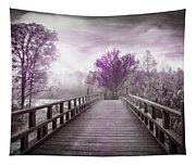Dreaming At Dawn In Pink Tapestry