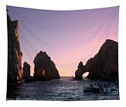 Dreamy Cabo Sunset The Arch Tapestry
