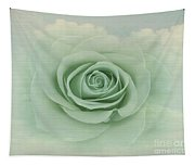 Dreamy Vintage Floating Rose Tapestry