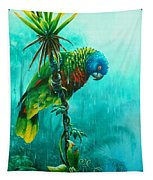 Drenched - St. Lucia Parrot Tapestry