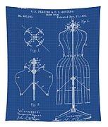 Dress Form Patent 1891 Blueprint Tapestry