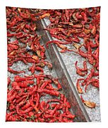 Dried Chili Peppers Tapestry