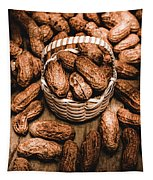 Dried Whole Peanuts In Their Seedpods Tapestry