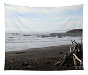 Driftwood And Moonstone Beach Tapestry