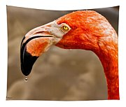 Dripping Flamingo Tapestry