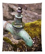 Dripping Tap On A Stone Trough Tapestry