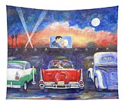 Drive-in Movie Theater Tapestry