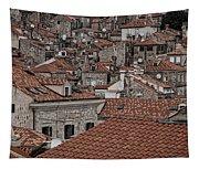 Dubrovnik Rooftops #3 Tapestry