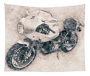 Ducati Paulsmart 1000 Le - 2006 - Motorcycle Poster - Automotive Art Tapestry