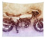 Ducati Supersport 2 - Sports Bike - 1975 - Motorcycle Poster - Automotive Art Tapestry