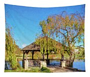 Duck Pond Gazebo At Virginia Tech Tapestry