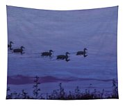 Ducks In A Row - Swimming In The Clouds Tapestry