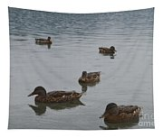 Ducks On Lake Bled Tapestry
