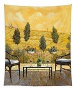 due bicchieri di Chianti Tapestry by Guido Borelli