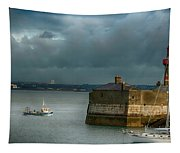 Dun Laoghaire Harbor Lighthouse Tapestry