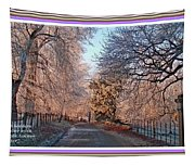 Dundalk Avenue In Winter. L A With Decorative Ornate Printed Frame. Tapestry