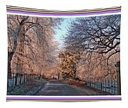 Dundalk Avenue In Winter. L B With Decorative Ornate Printed Frame. Tapestry