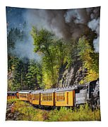 Durango-silverton Narrow Gauge Railroad Tapestry by Inge Johnsson