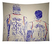 Durant And Westbrook Tapestry